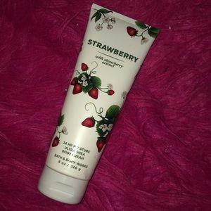 Strawberry body care bath and body works